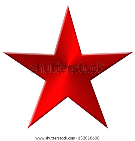 Star metal, red - stock photo