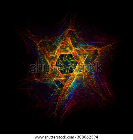 Star of David abstract illustration - stock photo