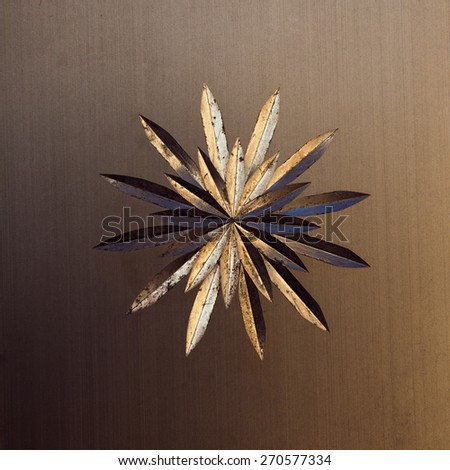 star on a metal background