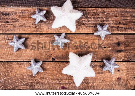 star on the wooden background