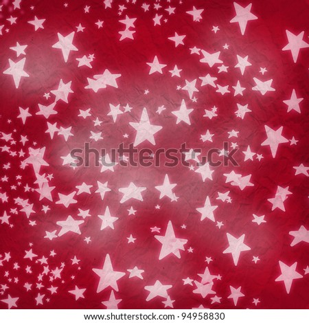 Star on vintage background