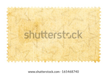 Star pattern on a grungy brown stamp, isolated against white.  - stock photo