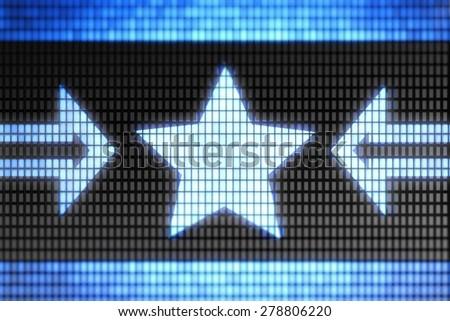 Star shape - stock photo