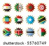 Star shape flags - Eastern, Northern & Southern Africa. JPEG version - stock photo