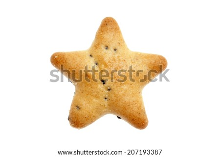 star shaped cracker on white background