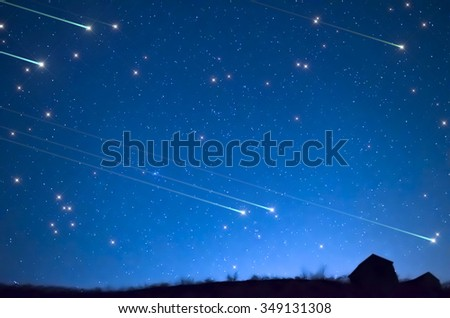 Star shower - stock photo