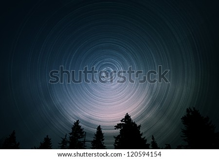 Star Trails - stock photo