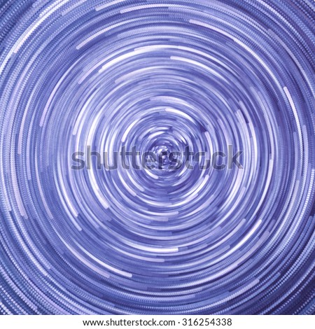 star trails at night - stock photo