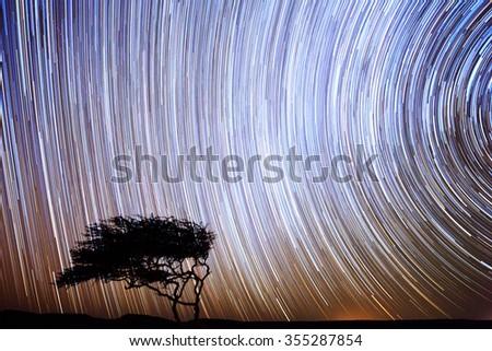 Star Trek in the night sky - stock photo