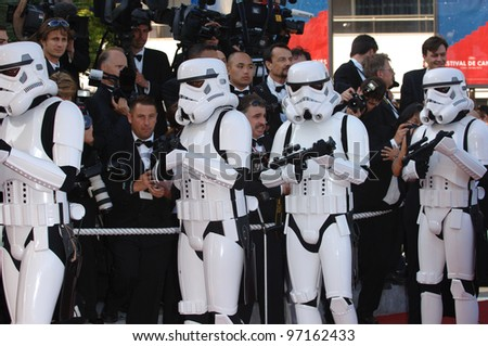 Star Wars stormtroopers at the gala premiere of Star Wars - Revenge of the Sith - at the 58th Annual Film Festival de Cannes. May 15, 2005 Cannes, France.  2005 Paul Smith / Featureflash