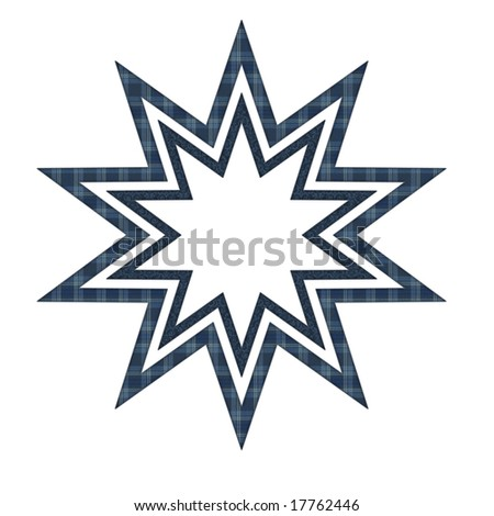 Star with blue pattern