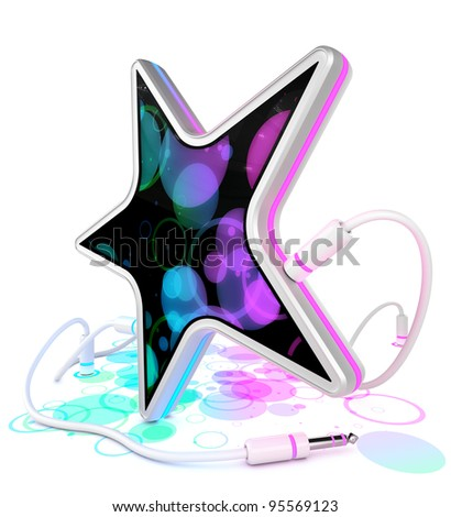 Star with colorful display
