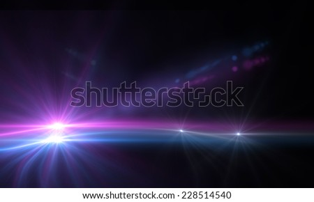 star with lens flare and zig zag effect made in 3d software - stock photo