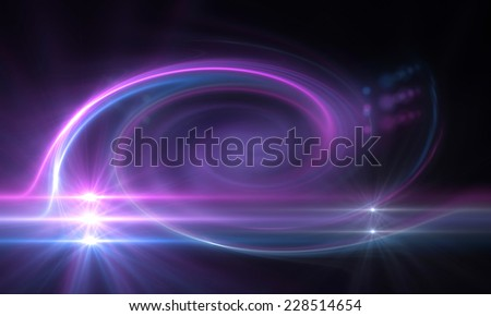 star with lens flare and zig zag effect made in 3d software