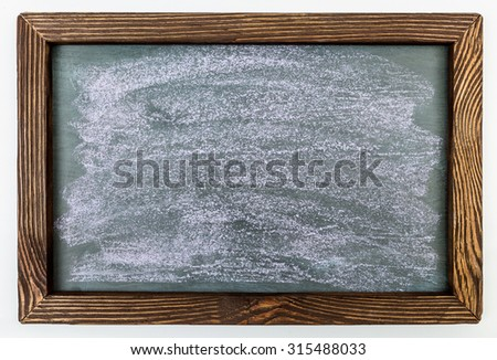 Staraya frame and background soiled with chalk