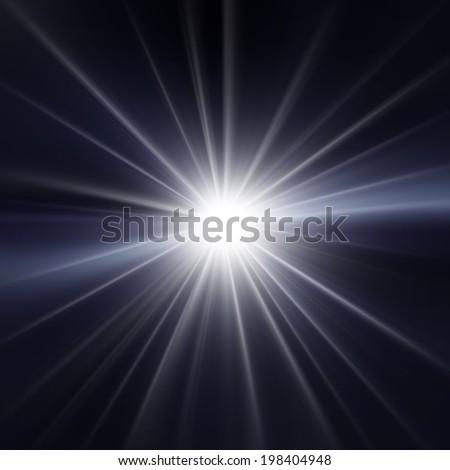 Starburst abstract background - stock photo