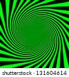 Starburst background, sunbeams going in all directions, green and black - stock photo