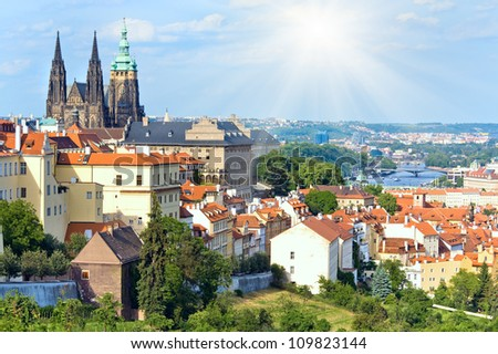 Stare Mesto (Old Town) view, Prague, Czech Republic - stock photo
