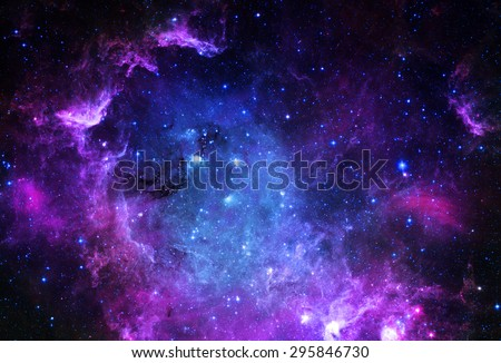 Starfield - Elements of this Image Furnished by NASA  - stock photo