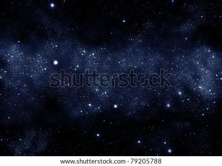 starfield milky way - stock photo
