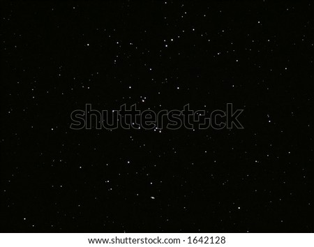 Starfield & Saturn - stock photo