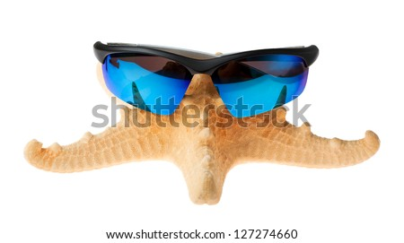 starfish isolated over white background. - stock photo