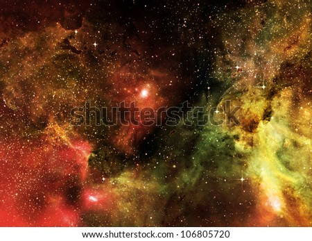starry background of deep outer space - stock photo