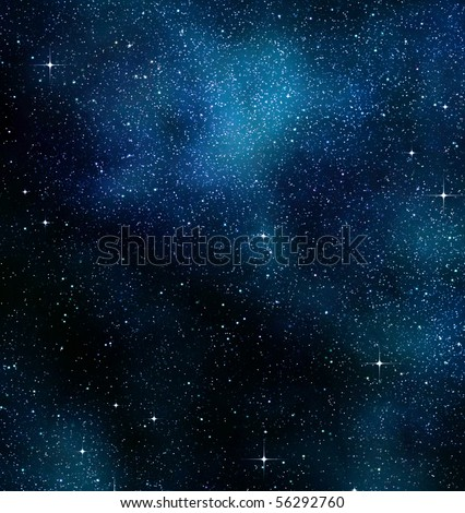 starry background of stars and  nebulas in deep outer space - stock photo
