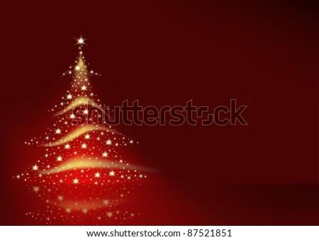 Starry Christmas Tree - stock photo