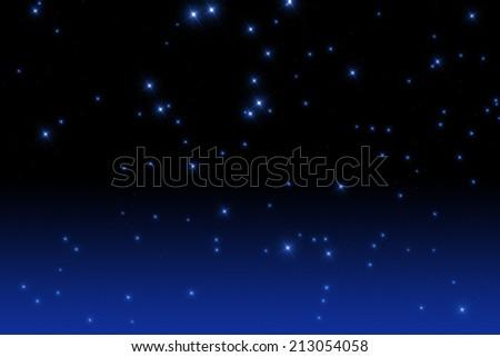 Starry night.  - stock photo
