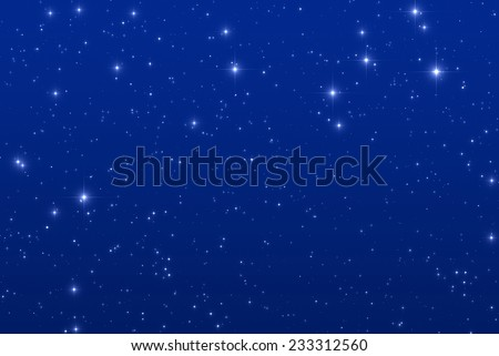 Starry night.  - stock photo