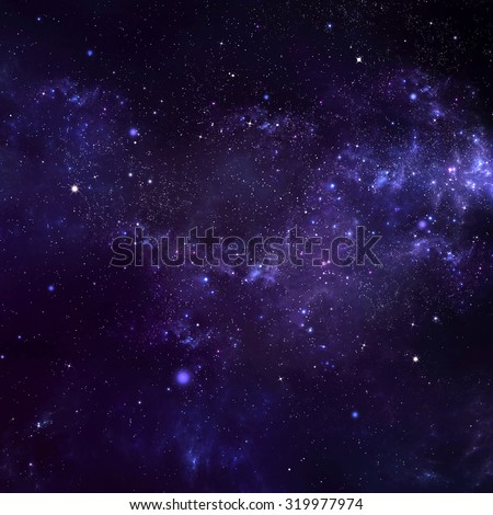 starry night sky - stock photo