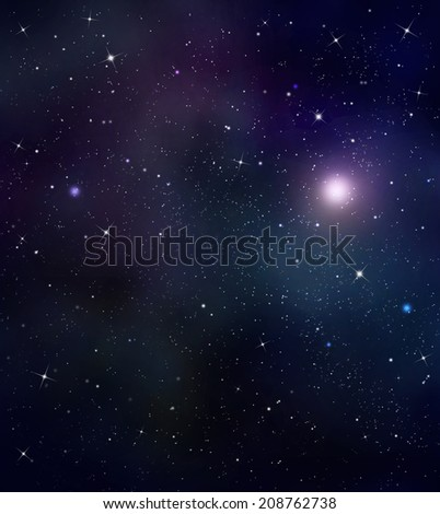 starry night sky deep outer space - stock photo