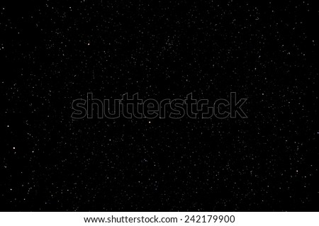Starry Night Sky with a ot of Stars Background - stock photo