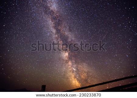 starry sky  - stock photo