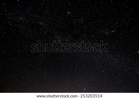 Starry sky and galaxy. - stock photo