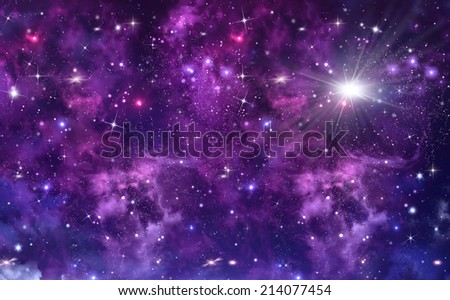starry sky deep outer space - stock photo