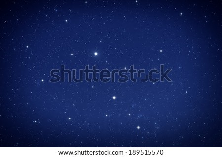 Starry Sky. Deep space and stars image. - stock photo