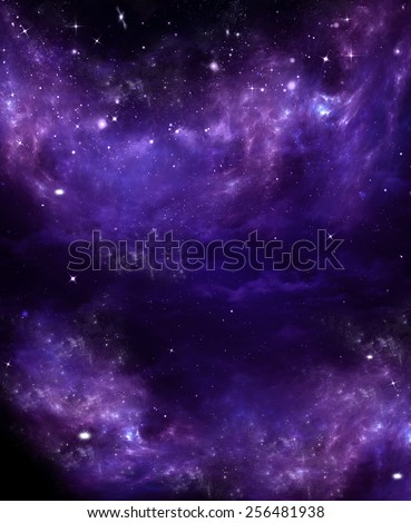 Starry sky in the open space - stock photo