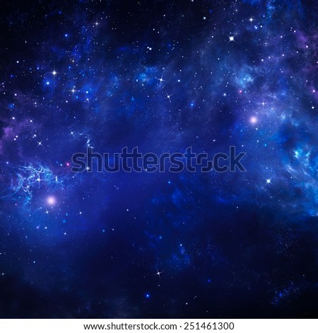 starry sky, space background  - stock photo