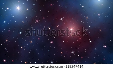 starry sky. Stars and nebulas in deep outer space