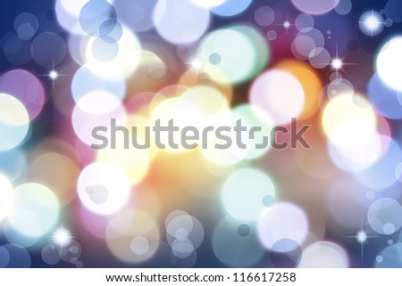 Stars  and circles abstract background - stock photo