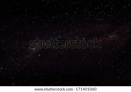 Stars and galaxy sky background  - stock photo