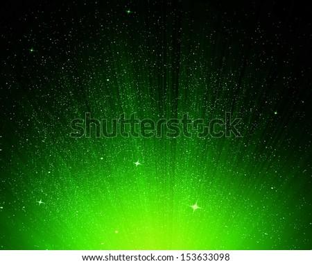 Sky Green Stars And Green Night Sky as