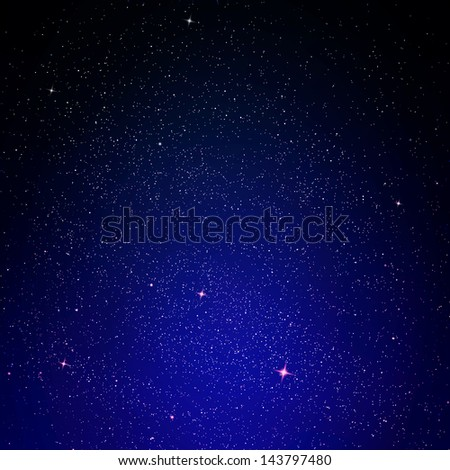 Stars and night sky as background - stock photo