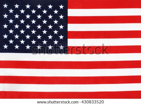 Stars and Stripes flag of the USA background