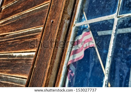 stars and stripes in the window 01