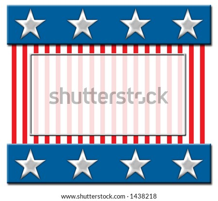 Stars and stripes (with copy space)
