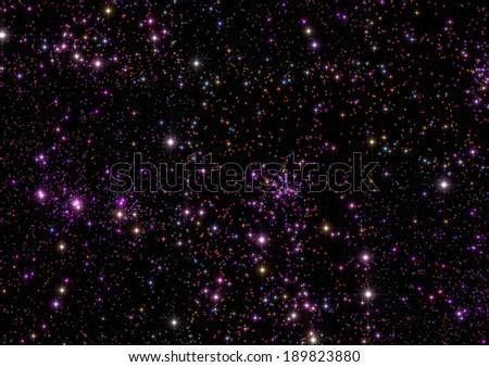 Stars as seen through a telescope. - stock photo