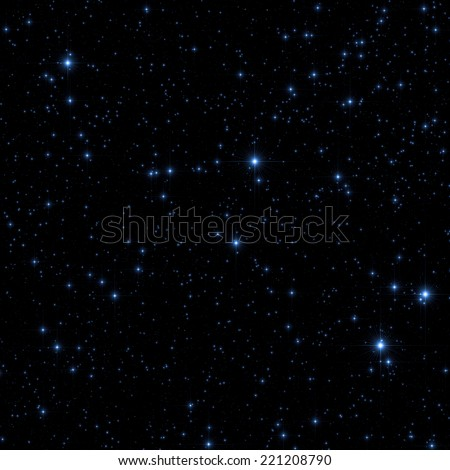 Stars as seen through a telescope with long exposure.  - stock photo